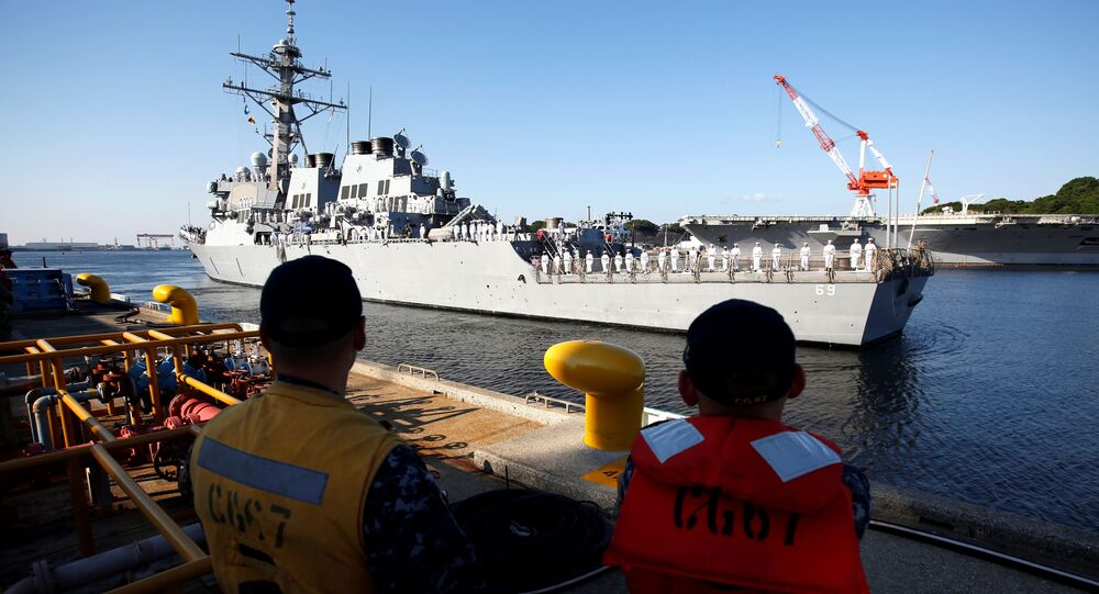 The USS Milius (DDG69) guided-missile destroyer arrives to join the Forward Deployed Naval Force (FDNS) at the U.S. naval base in Yokosuka, Japan May 22, 2018