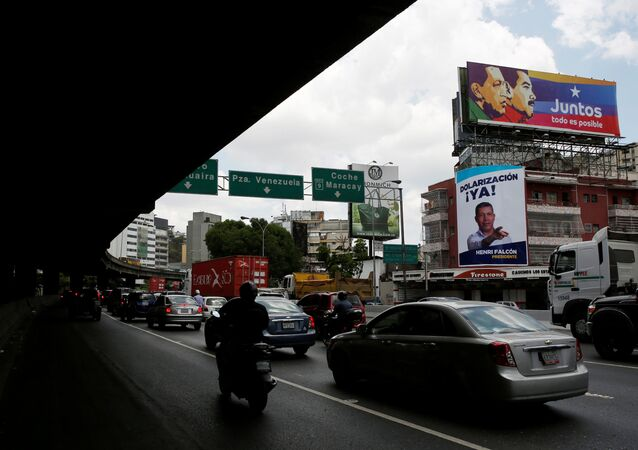 Election posters in the streets of Caracas, Venezuela