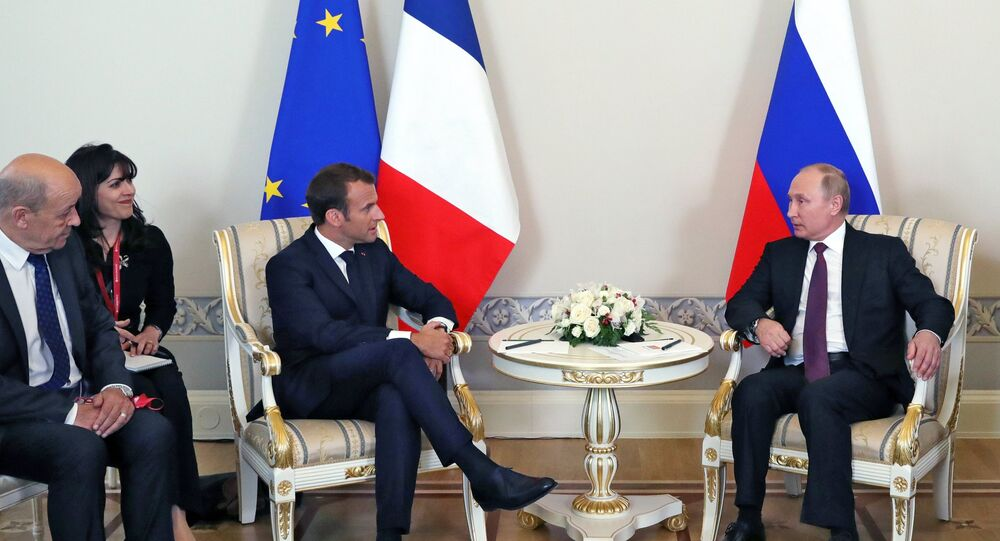 Macron Comes To Russia As Representative For Europe French Diplomat Sputnik International