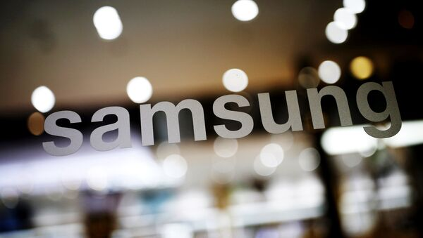 The logo of Samsung Electronic is seen at its headquarters in Seoul, South Korea, in this file photo taken on April 4, 2016. - Sputnik International