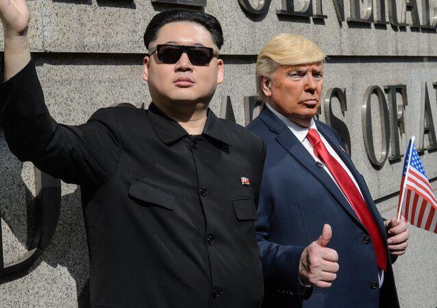 Los dobles de Kim Jong-un y Donald Trump