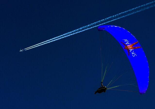 Touch the Sky: Paragliders Practice in Stubaital, Austria