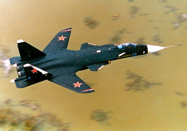 Sukhoi Su-47 Berkut [Golden Eagle] fighter and experimental flying laboratory