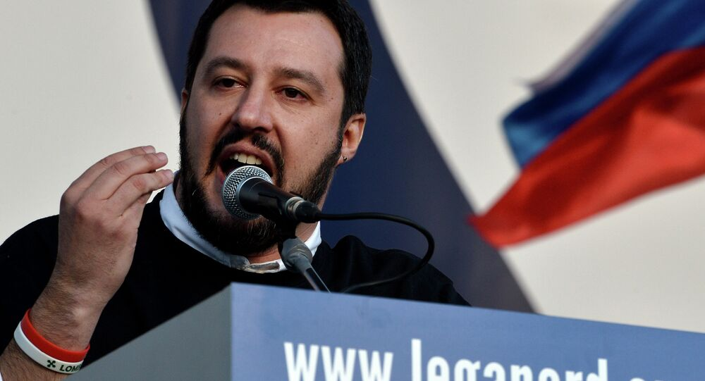 Il leader della Lega Nord Matteo Salvini