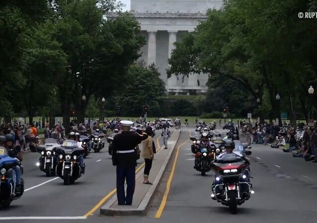 Bikers Participate In Rolling Thunder Ride Through Washington DC