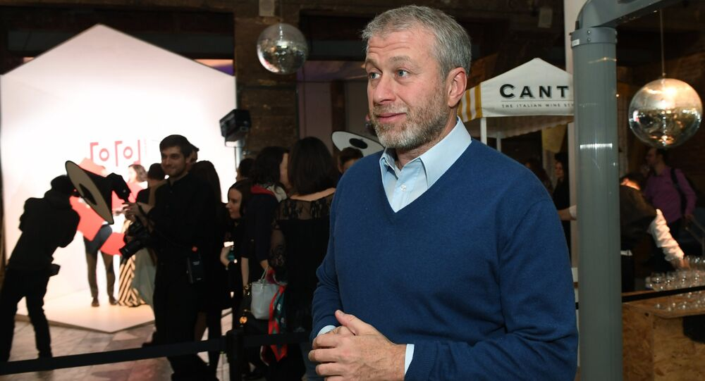 Businessman Roman Abramovich attends the celebration of the Gogol Center anniversary in Moscow. File photo