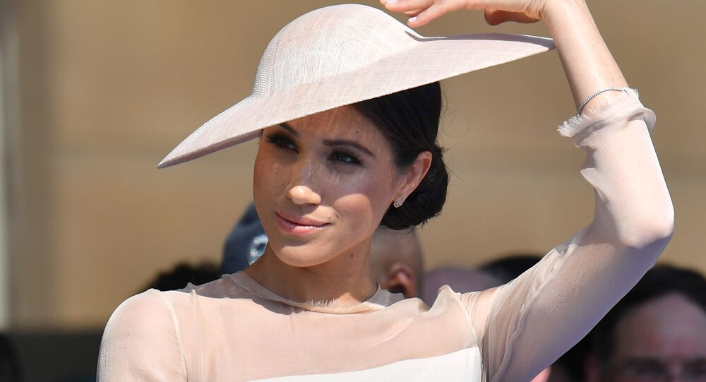 Meghan, Duchess of Sussex attends a garden party at Buckingham Palace, in London, Britain May 22, 2018