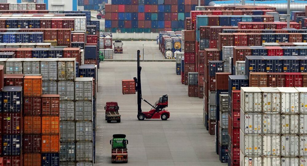 Containers are seen at the Yangshan Deep Water Port in Shanghai, China April 24, 2018