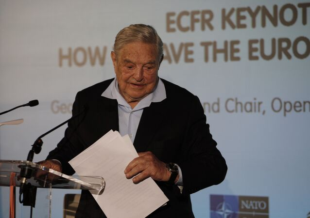 George Soros, Founder and Chairman of the Open Society Foundations leaves after his speech entitled How to save the European Union as he attends the European Council On Foreign Relations Annual Council Meeting in Paris, Tuesday, May 29, 2018