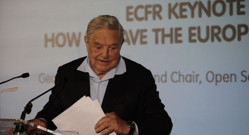 George Soros, Founder and Chairman of the Open Society Foundations, leaves after his speech entitled How to save the European Union, as he attends the European Council On Foreign Relations Annual Council Meeting in Paris, Tuesday, 29 May 2018
