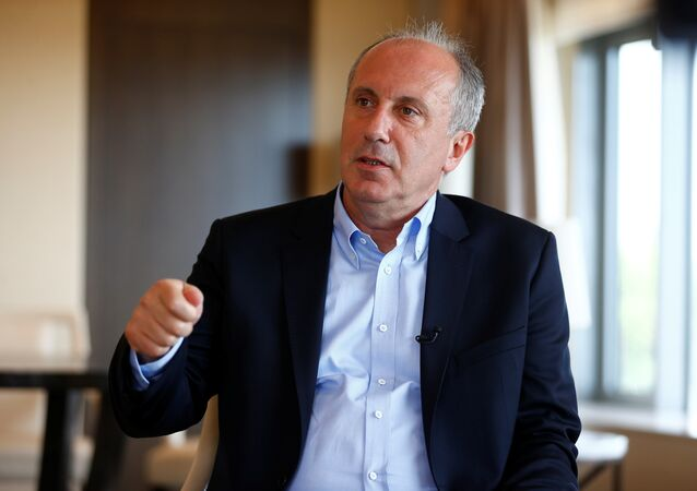 Muharrem Ince, main opposition Republican People's Party's (CHP) candidate in presidential snap election is pictured during an interview with Reuters in Istanbul, Turkey May 16, 2018