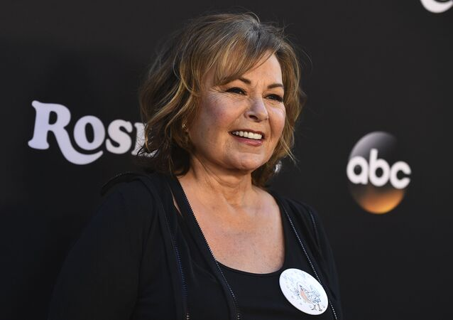 Roseanne Barr arrives at the Los Angeles premiere of Roseanne on Friday, March 23, 2018 in Burbank, Calif.