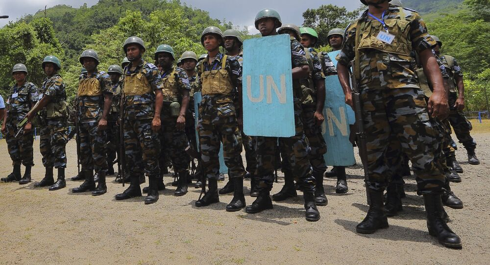 For illustration purposes only: In this Sept. 13, 2016 photo, Sri Lanka Air Force airmen train for deployment as U.N. peacekeepers at the Institute of Peace Support Operations Training in Kukuleganga, Sri Lanka.