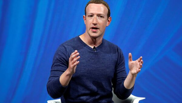 Facebook's founder and CEO Mark Zuckerberg speaks at the Viva Tech start-up and technology summit in Paris, France, May 24, 2018 - Sputnik International