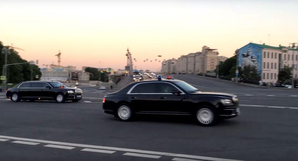 Presidential Motorcade leaves the Kremlin