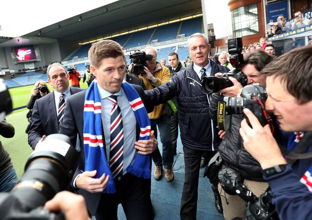 Former England midfielder Steven Gerrard was unveiled as the new manager of Rangers last month
