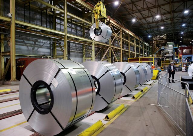 Rolled up steel sits in the ArcelorMittal Dofasco steel plant in Hamilton, Ontario, Canada, March 13, 2018