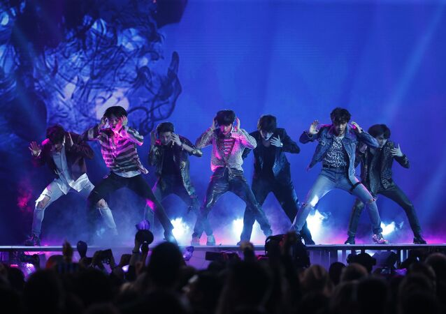 2018 Billboard Music Awards - Show - Las Vegas, Nevada, U.S., 20/05/2018 - BTS performs Fake Love.