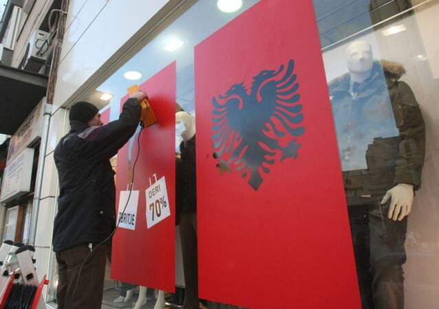 A street in Pristina. The authorities are expected to declare Kosovo's independence on the 17th of February