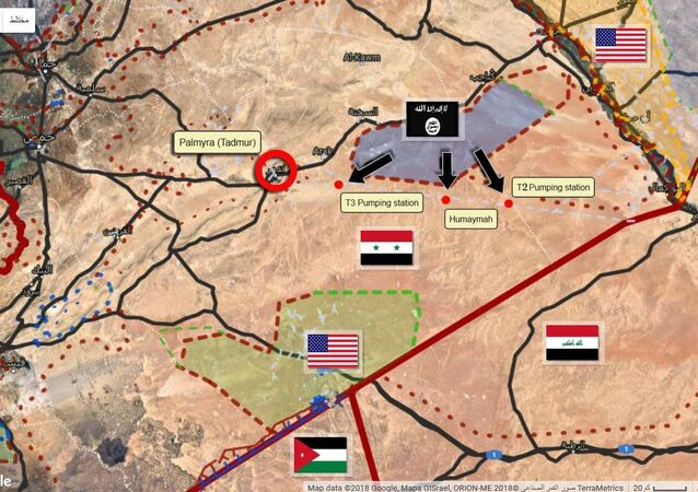 Map of the strategic situation in Syria