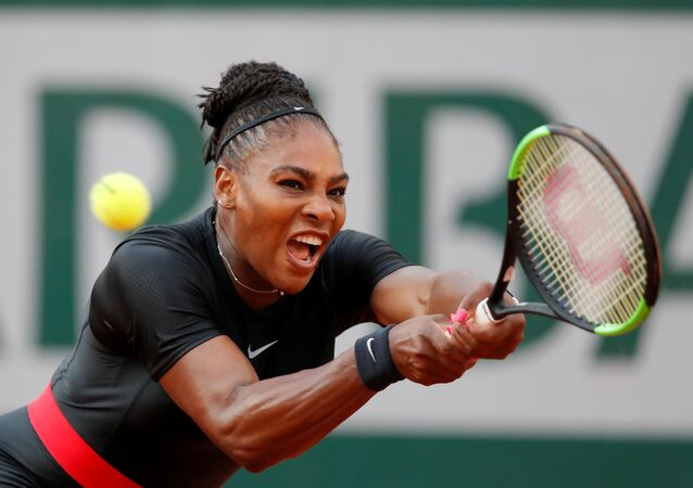 Tennis - French Open - Roland Garros, Paris, France - June 2, 2018 Serena Williams of the U.S. in action during her third round match against Germany's Julia Goerges