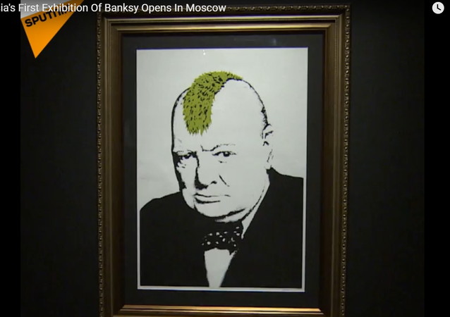 Russia's First Exhibition Of Banksy Opens In Moscow