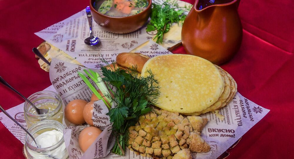 Traditional Mordovian dishes
