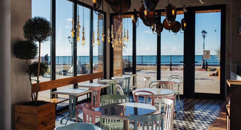 Interior of Sochi's 5642 Vysota Restaurant