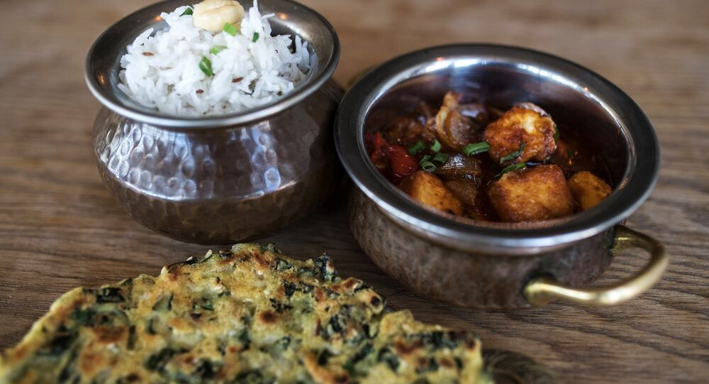 Rostov-on-Don Green Café's Indian dishes