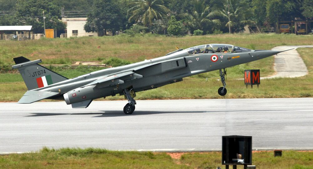 (File) A Jaguar strike aircraft touches down at the Hindustan Aeronautics Limited (HAL) airport in Bangalore, India, Friday, July 15, 2005