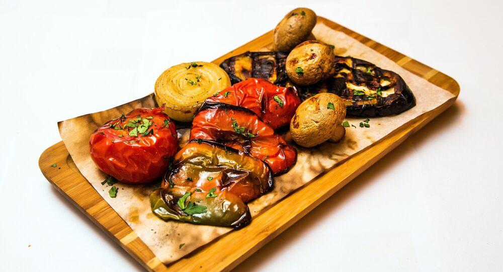 Khmeli Suneli's Grilled vegetables