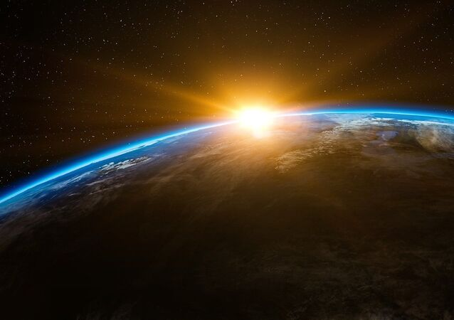 Sunrise in outer space