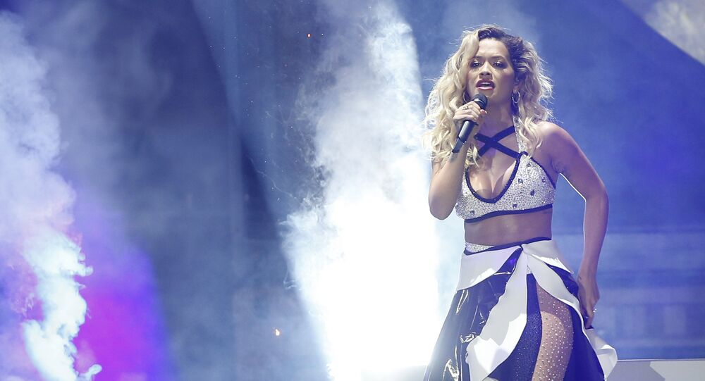British singer Rita Ora performsduring the 2018 Echo Music Awards ceremony Thursday, April 12, 2018 in Berlin