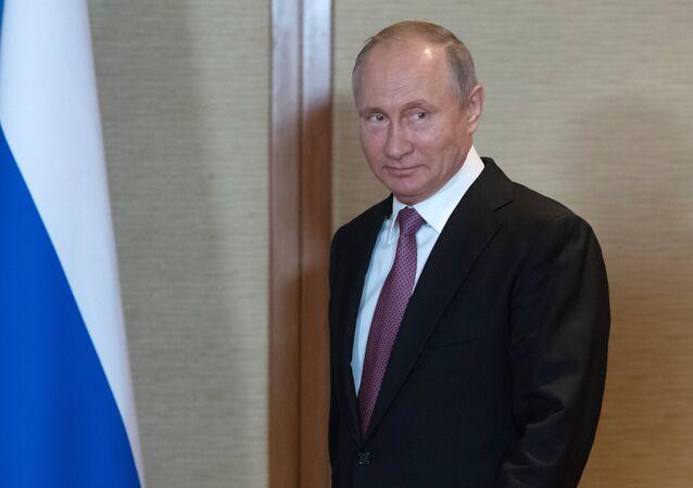 Vladimir Putin at the SCO Summit in Qingdao.