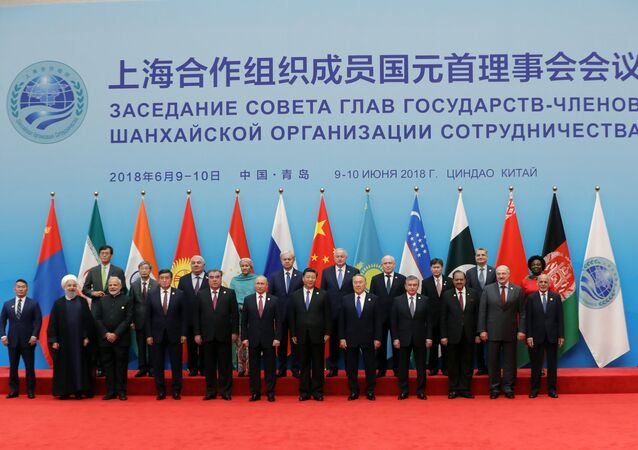 The Shanghai Cooperation Organization leaders in China's Qingdao.