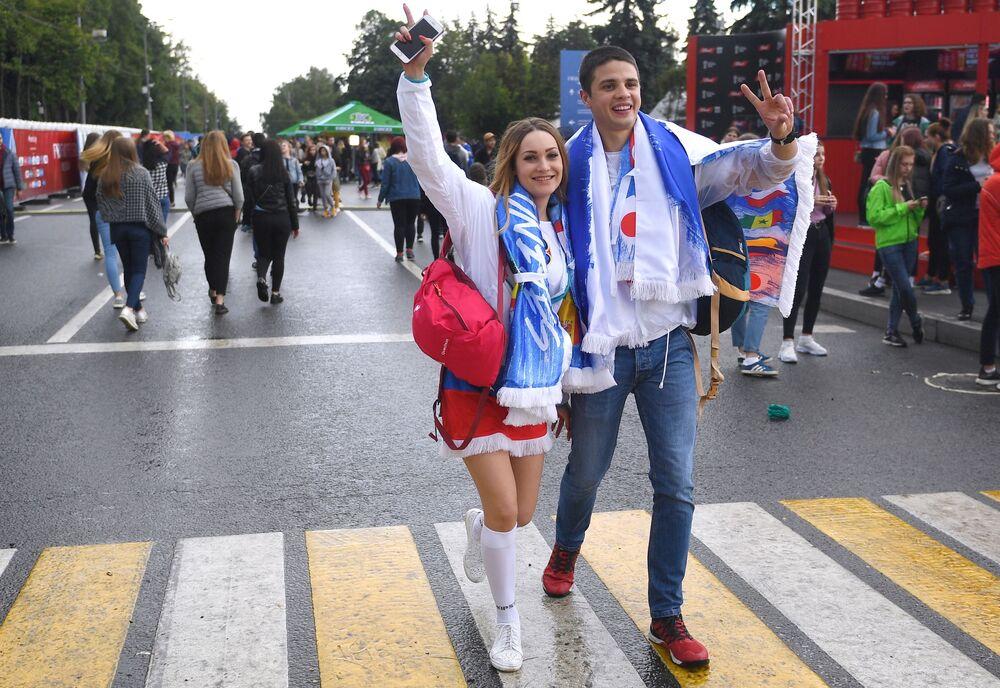 FIFA World Cup 2018 Fan Fest Rocks Off in Moscow
