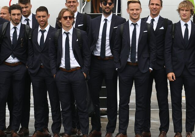 Croatia's footballers and coaching staff arrived in St. Petersburg
