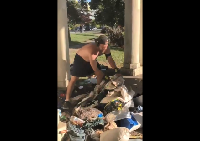 Jogger Destroys Homeless Man's Encampment