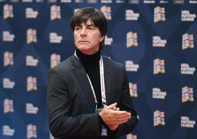 Germany Head Coach Joachim Löw before the UEFA draft ceremony, 2018