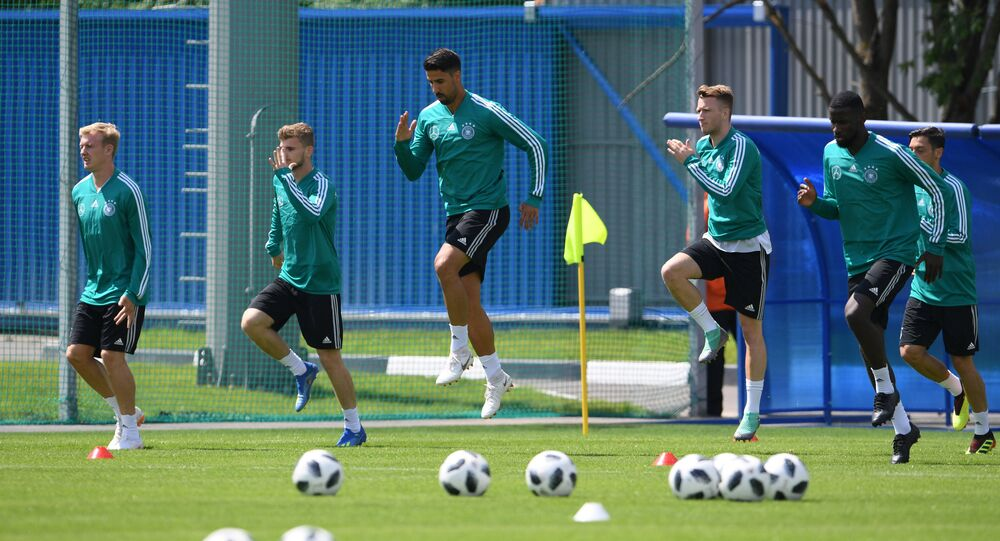 German football team's training session in Russia ahead of 2018 FIFA World Cup