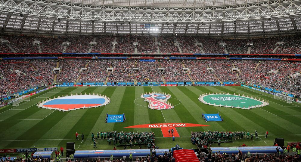 Soccer Football - World Cup - Group A - Russia vs Saudi Arabia - Luzhniki Stadium, Moscow, Russia - June 14, 2018 General view before the match