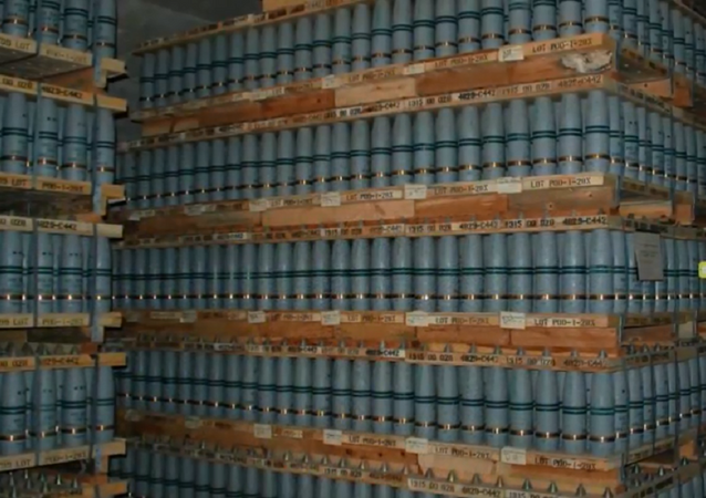 Mustard gas stored at the Pueblo Chemical Depot.