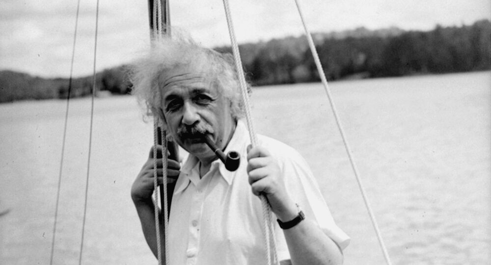Professor Albert Einstein began an Adirondacks vacation, July 3, 1936, with a nine-hour sailing lark that really wound up as a towing operation with a reporter's speed boat on the pulling end