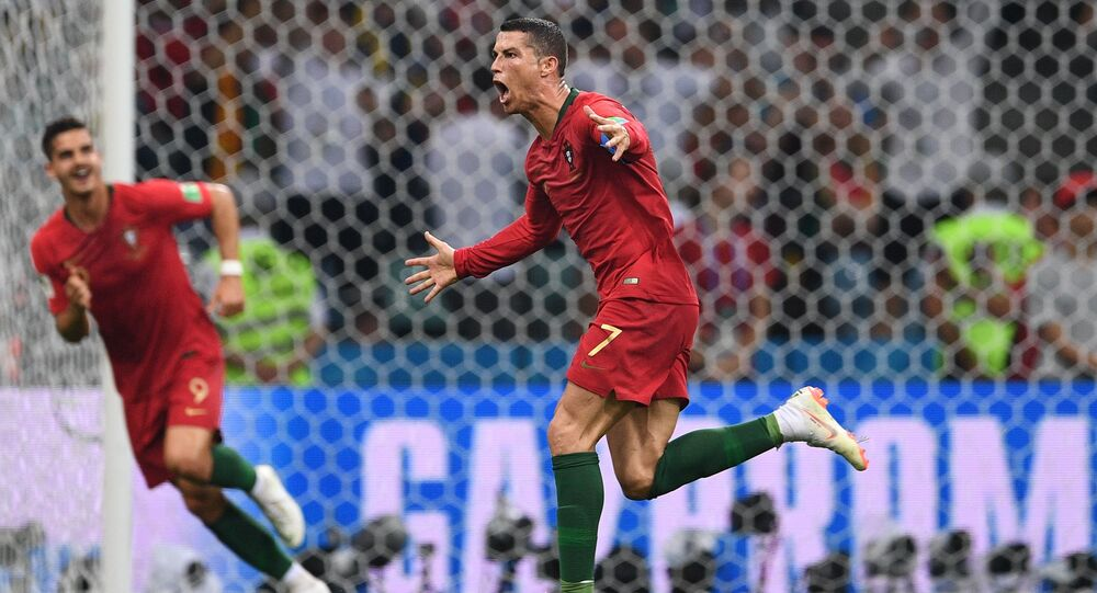 Ronaldo's spectacular play which earned his team a draw against Spain.