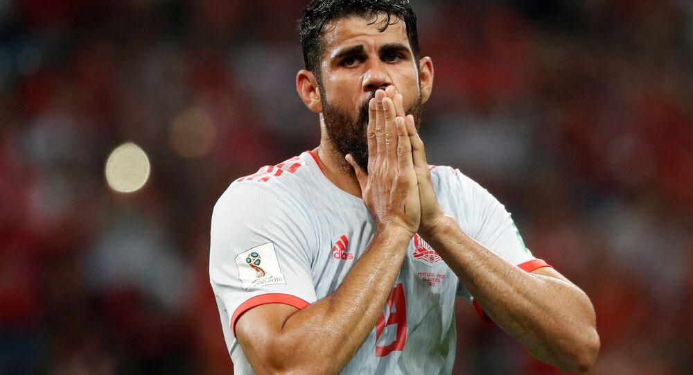 Soccer Football - World Cup - Group B - Portugal vs Spain - Fisht Stadium, Sochi, Russia - June 15, 2018 Spain's Diego Costa reacts