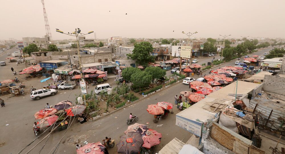 View of the Red Sea port city of Hodeidah, Yemen, June 14, 2018