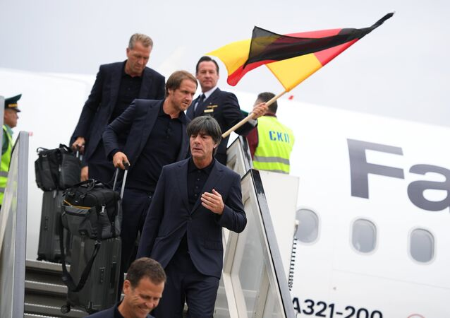 Football. 2018 World Cup. Arrival of the German national team