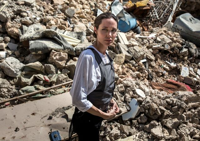 UNHCR Special Envoy Angelina Jolie visits the Old City in West Mosul, Iraq June 16, 2018