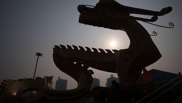 A dragon sculpture in Beijing - Sputnik International