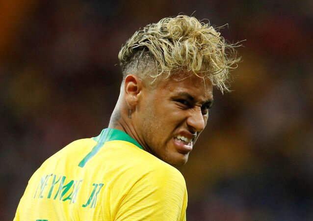 Soccer Football - World Cup - Group E - Brazil vs Switzerland - Rostov Arena, Rostov-on-Don, Russia - June 17, 2018 Brazil's Neymar reacts